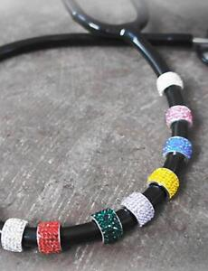 Prestige Medical Charmed Crystal Nurse Stethoscope Stackable Charms Many Colors