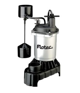 Flotec Sump Pump Submersible Cast Iron Construction Vertical Switch 15 Amp New