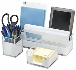 Sorbus Acrylic Desk Organizers Set 3 piece Includes Desk Organizer Caddy M