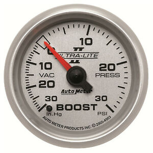 Autometer 4903 Ultra Lite Ii Vacuum Boost Gauge 2 1 16 In Mechanical