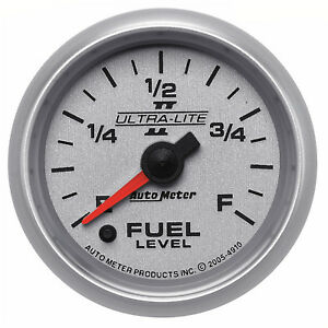 Autometer 4910 Ultra Lite Ii Fuel Level Gauge 2 1 16 In Electrical