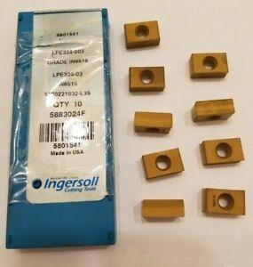 9 Pcs Ingersoll Cutting Tools 5801541 Lpe324 003 In6515 Lathe Carbide Inserts