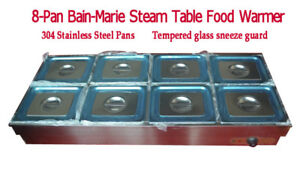8 pan Food Warmer 8 1 2pan 4inch Deep Bain marie Steam Table Food Warmer