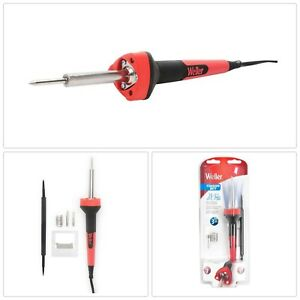Soldering Iron Kit 25 Watt Electric Red Corded Heavy Duty Welding Hand Tools New