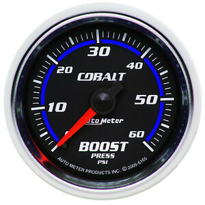 Autometer 6105 Cobalt Boost Pressure Gauge 2 1 16 In Mechanical