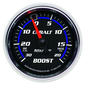 Autometer 6107 Cobalt Vac boost Pressure Gauge 2 1 16 In Mechanical