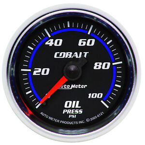 Autometer 6121 Cobalt Oil Pressure Gauge 2 1 16 In Mechanical