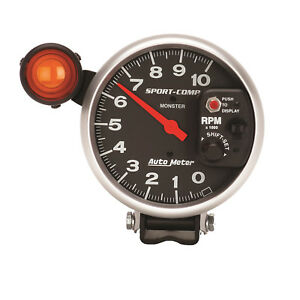 Autometer 3904 Sport Comp Monster Shift Lite Tachometer Gauge 5 In Electrical
