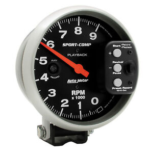 Autometer 3966 Sport comp Cams P Playback Tachometer Gauge 5 In Electrical