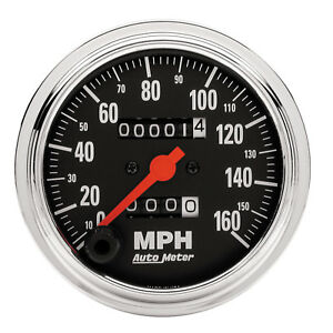Autometer 2494 Traditional Chrome Speedometer Gauge 3 3 8 In Mechanical