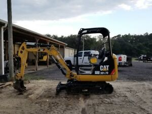 2015 Caterpillar 301 7d Mini Excavator Only 614 Hours Expandable Tracks