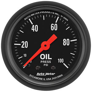 Autometer 2604 Z Series Oil Pressure Gauge 2 1 16 In Mechanical