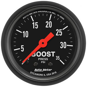 Autometer 2616 Z Series Boost Pressure Gauge 2 1 16 In Mechanical