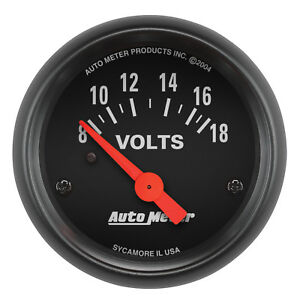 Autometer 2645 Z Series Voltmeter Gauge 2 1 16 In Electrical
