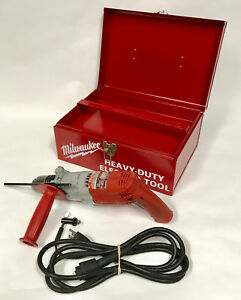 Milwaukee 5370 1 Heavy Duty Magnum 1 2 Corded Hammer Drill Driver W Case