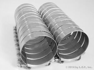 20 T bolt Hose Clamps 72 80 Mm 2 13 16 3 1 8 3 Stainless Turbo Intake