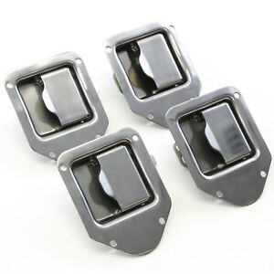 4 Toolbox Stainless Door Handle Trailer Rv Latch 4 3 8 X 3 1 4 Paddle New