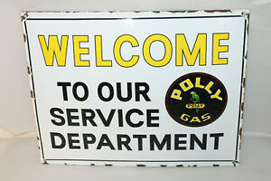 Polly Gas Vintage Style Porcelain Signs Gas Pump Garage Man Cave Station