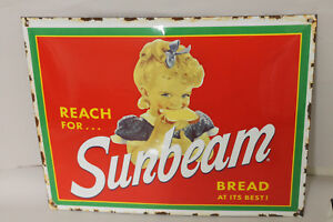 Sunbeam Bread Vintage Style Porcelain Signs Gas Station Man Cave Country Store