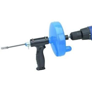 Hand Crank Or Drill Operated Powered Drain Cleaner Cable Snake Tool