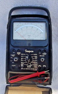 Simpson 260 Series 8 Vom Analog Volt Ohm Milliammeter With Leads