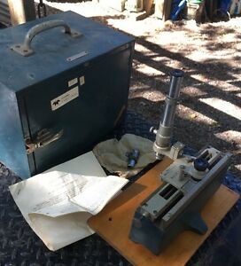 Gaertner Central Scientific Vernier Thickness Microscope Machinist Tool Maker