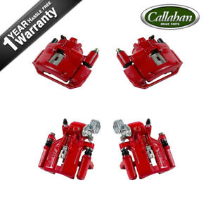 Front And Rear Red Brake Calipers For 1994 1995 1996 1997 1998 Ford Mustang Sn95
