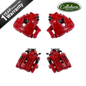 Front And Rear Red Peformance Coat Calipers For 1999 2005 Volkswagen Jetta