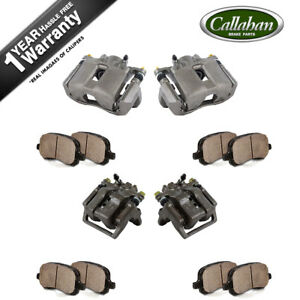 Front And Rear Brake Calipers Ceramic Pads For 1999 2000 2001 Acura Rl