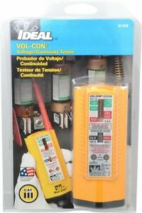 Ideal 5 Vac vdc To 600 Vac vdc Voltage And Circuit Continuity Tester Led And