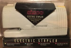 Nib Sisco Electric Stapler the Protector Model Number S9600 Ac Operated