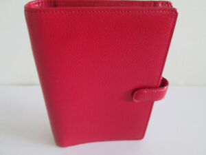 Filofax Organiser Finsbury Red Grained Leather Personal Size Unused