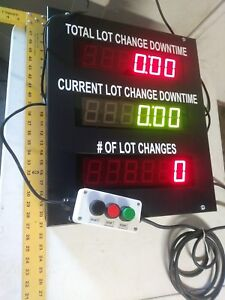 Industrial Counter Change Downtime American Led gible With Remote Count Button