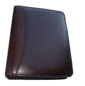 Franklin Quest Full Grain Aniline Leather Compact Usa Vintage Planner Binder