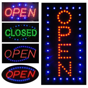 Ultra Bright Led Neon Light Business Sign Animated Motion Display Open W On off