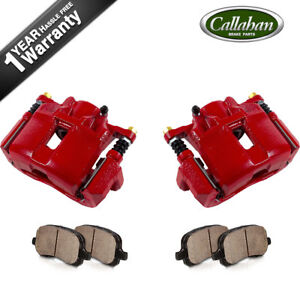 Front Red Brake Calipers Pads For Acura Cl Rl Rl Tsx Honda Accord Coupe Sedan