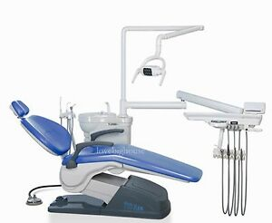 usa Stock tuojian Tj2688 A1 Dental Unit Chair Fda Sky Blue Hard Leather M4 110v