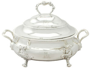 Sterling Silver Soup Tureen Antique George Iii 1809
