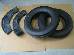 2 New 5 00 15 Tri Tread Front Tires Innertubes John Deere Farmall Jinma Allis