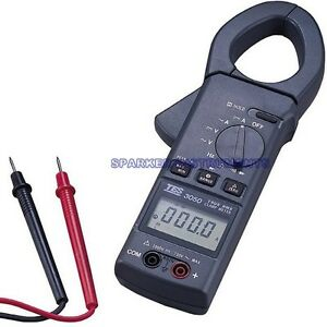Tes 3050 Trms Ac dc Clamp Meter Peak Hold Measurement fp