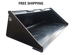 New 66 Powder Coated Smooth Bucket For Skid Steer Loader Free Shipping