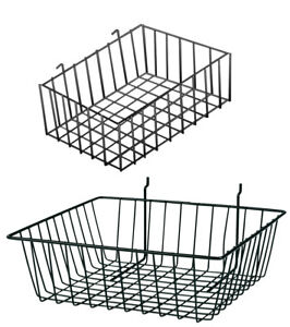 Slatwall And Pegboard Baskets Bundle set Of 4 Pegboard Baskets