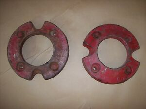 Farmall Cub Front Wheel Weight Pair With Used Mounting Bolts