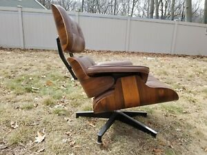 Herman Miller Eames Lounge Chair Charles Ray Eames Rosewood 670 Lounge Chair