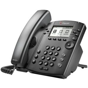 Polycom Vvx 301 6 Line Voip Display Phone Black With Ac Adapter