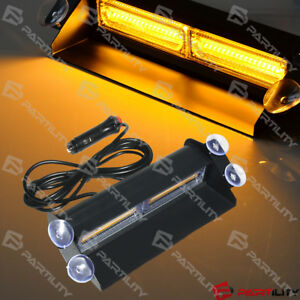 Cob Amber Light Emergency Car Vehicle Warning Strobe Flashing Led Yellow