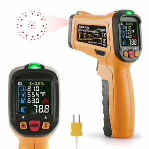 Infrared Thermometer Zoto Pm6530d Digital Laser Non Contact Temperature Gun