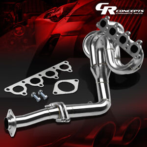 For 88 00 Honda Civic Crx Del Sol D15 D16 Stainless Exhaust Manifold Drag Header