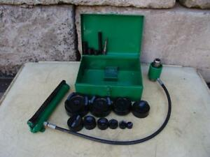Greenlee 7310 Hydraulic Knockout Punch And Die Set 1 2 To 4 5 21 4