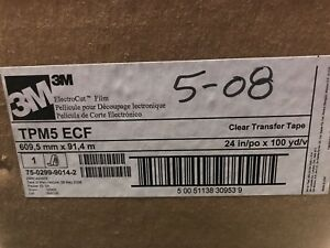 3m Tpm5 Clear Transfer Tape 24 Inch X 100 Yards Electrocut Film For Signs